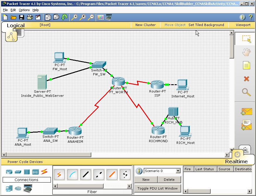 Packet Tracer sample topology